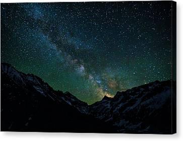Washington Pass Overlook Milky Way Canvas Print by Pelo Blanco Photo