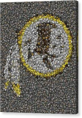 Washington Redskins Coins Mosaic Canvas Print by Paul Van Scott