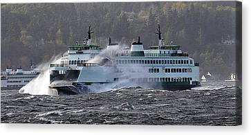 Washington State Ferry Cathlamet  Canvas Print by Jack Pumphrey