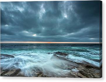 Washover Canvas Print by Peter Tellone