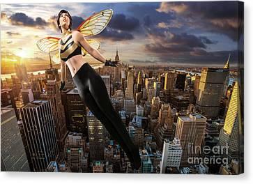 Wasp Canvas Print by Ian MacDonald