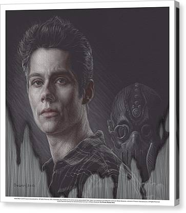 Watch Your Back Stiles Canvas Print by Swann Smith