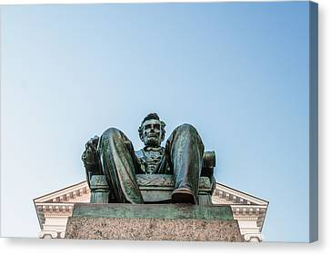 Watchful Abe Canvas Print by Todd Klassy