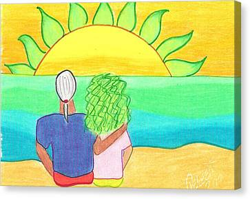 Watching The Green Flash Canvas Print by Geree McDermott
