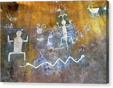 Watchtower Rock Art  Canvas Print by Julie Niemela