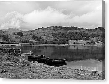 Watendlath Tarn In The Lake District Cumbria Canvas Print by Louise Heusinkveld