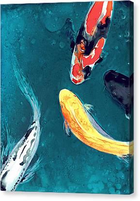 Water Ballet Canvas Print by Brazen Edwards
