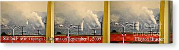 Water Drop On The Station Fire Canvas Print by Clayton Bruster