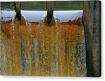 Water Fall At Grismill Pond Canvas Print by Danny Jones