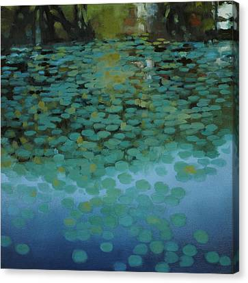 Water Lilies 3 Canvas Print by Cap Pannell