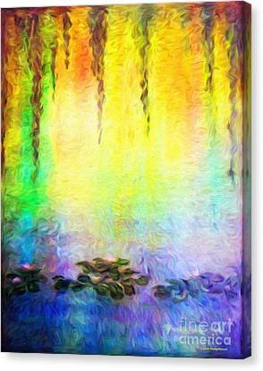 Water Lilies At Dawn Canvas Print by Jerome Stumphauzer