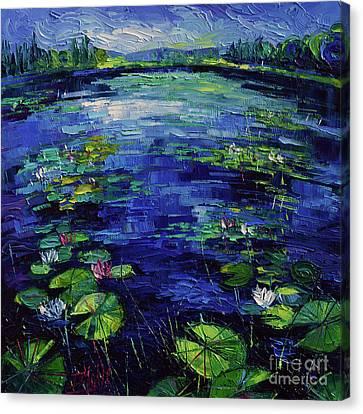 Water Lilies Magic Canvas Print by Mona Edulesco