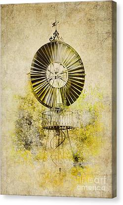 Water-pumping Windmill Canvas Print by Heiko Koehrer-Wagner