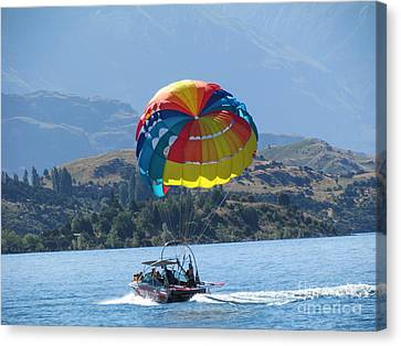 Water Sport Canvas Print by Joyce Woodhouse