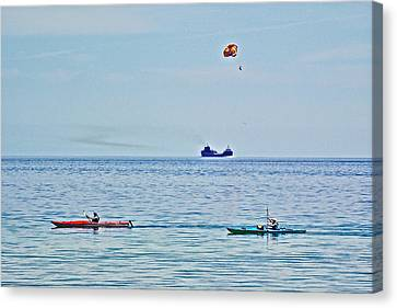 Water Transportion On Lake Huron Around Mackinac Island-michigan Canvas Print by Ruth Hager