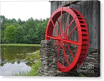 Water Wheel Vermont Canvas Print by Edward Fielding