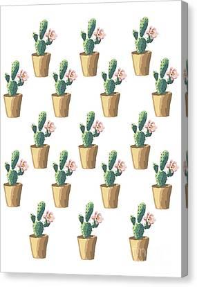 Watercolor Cactus Canvas Print by Roam  Images
