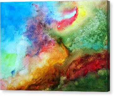 Watercolor Collage Canvas Print by Jamie Frier