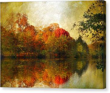 Watercolor Sunset Canvas Print by Jessica Jenney