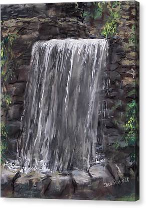 Waterfall At Longfellow's Gristmill Canvas Print by Jack Skinner