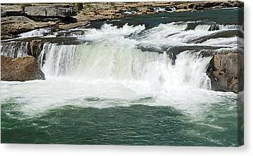 Waterfall At Ohiopyle State Park Canvas Print by Larry Ricker