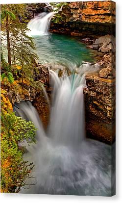 Waterfall Canyon Canvas Print by Scott Mahon