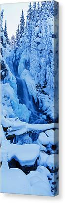 Waterfall, Manning Park, British Canvas Print by Panoramic Images