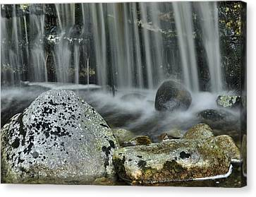 Waterfall Ribbons Canvas Print by Stephen  Vecchiotti