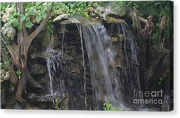Waterfall Serenity Canvas Print by Jimmy Clark