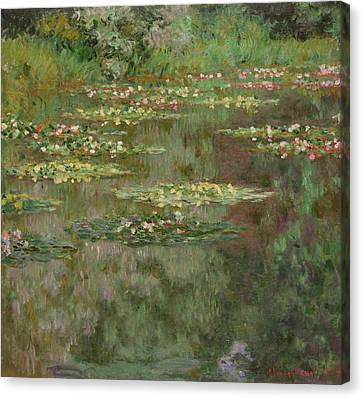 Waterlilies Or The Water Lily Pond Canvas Print by Claude Monet
