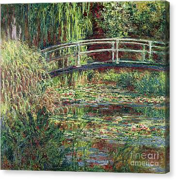 Waterlily Pond Canvas Print by Claude Monet
