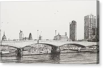 Waterloo Bridge Canvas Print by Vincent Alexander Booth