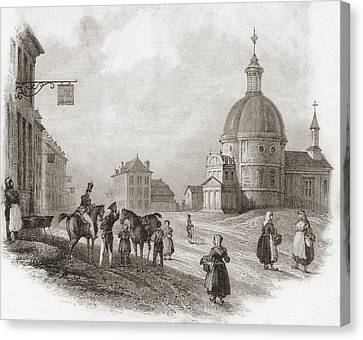 Waterloo, Walloon Brabant, Belgium In Canvas Print by Vintage Design Pics