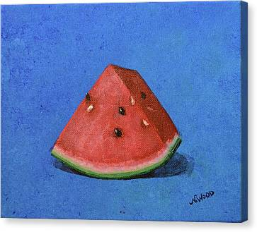 Watermelon Canvas Print by Nancy Otey