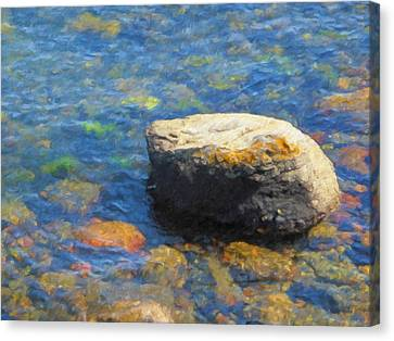 Waterstone Canvas Print by Lutz Baar