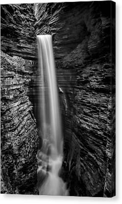 Watkins Glen Cavern Cascade #3 Canvas Print by Stephen Stookey