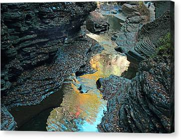 Watkins Glen Gorge  Canvas Print by Jessica Jenney