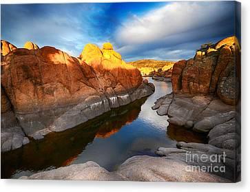 Watson Lake Arizona 10 Canvas Print by Bob Christopher