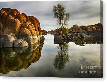 Watson Lake Arizona 12 Canvas Print by Bob Christopher