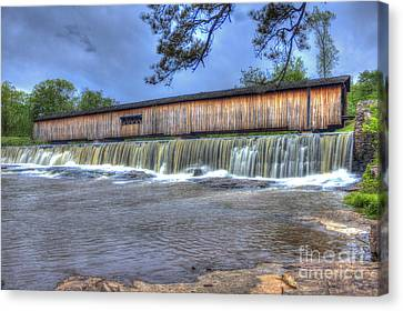 Watson Mill Covered Bridge State Park Canvas Print by Reid Callaway
