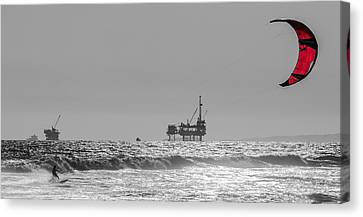 Wave And Wind Energy Are More Fun Canvas Print by Scott Campbell