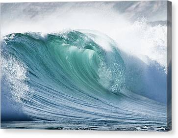 Wave In Pristine Ocean Canvas Print by John White Photos