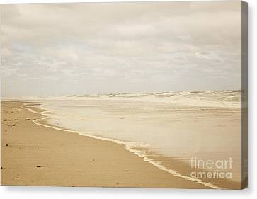Waves Along The Shoreline Canvas Print by Juli Scalzi