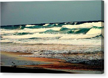 Waves Of Florida Canvas Print by Louis Meyer