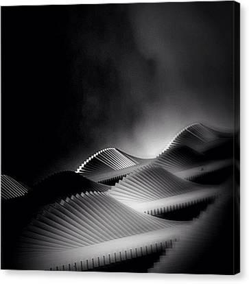 Waves Of Steel - Concrete Jungle Canvas Print by Robbert Ter Weijden