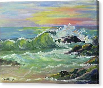 Waves Canvas Print by Saga Sabin