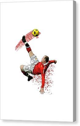 Wayne Rooney Canvas Print by Armaan Sandhu