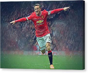 Wayne Rooney Canvas Print by Semih Yurdabak