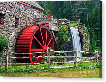 Wayside Inn Grist Mill Canvas Print by Jim Beckwith