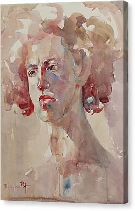 Wc Portrait 1621 Canvas Print by Becky Kim